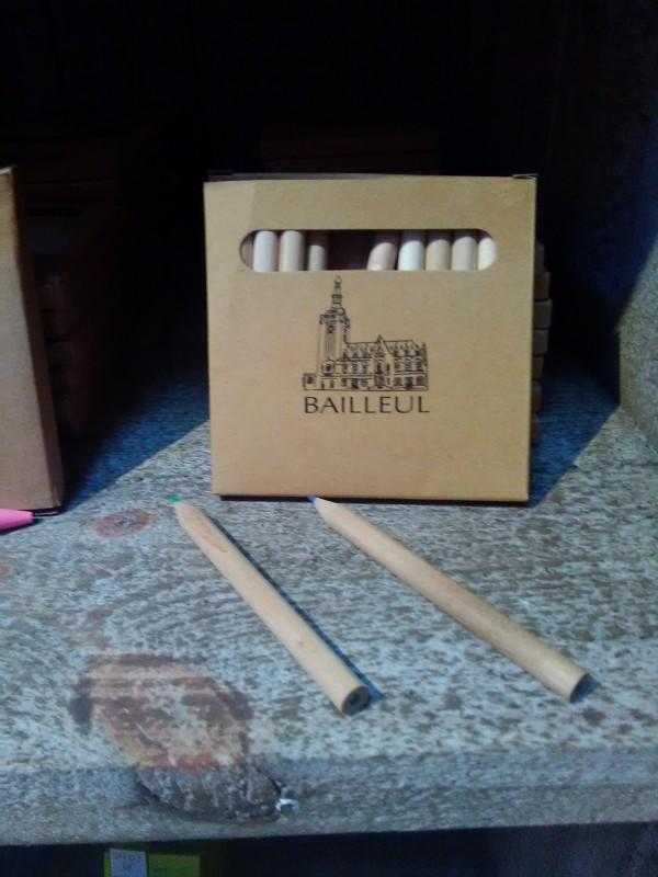Pochette crayon bois